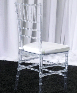 Clear Resin Tiffany Chairs Manufacturers